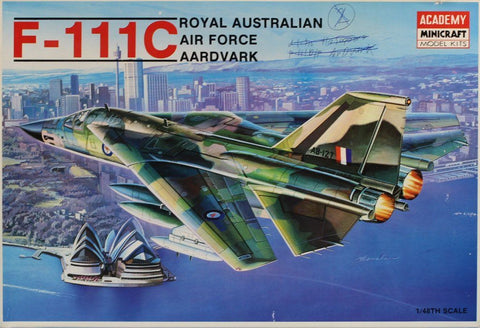 Academy Minicraft 1:48 F-111 C Royal Australian Air Force Aardvark Kit #1674U N/A Academy