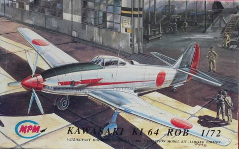 MPM 1:72 Kawasaki Ki-64 Rob Plastic Aircraft Model Kit #72119U N/A MPM