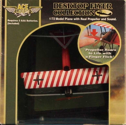 ACE Legend 1:72 Fokker D7 Desktop Flyer w/ Real Propeller Sound Built #H-72501U N/A ACE_Legend