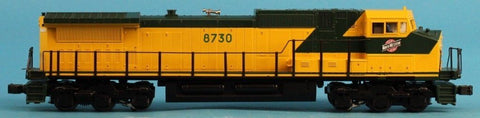 MTH O Gauge GE Dash-9 Chicago North Western CNW #8730 Engine #20-2159-1U1 N/A MTH