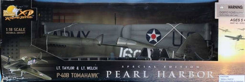 21st Century Toys 1:18 P-40B Tomahawk #160 Pearl Harbor Flying Tiger #10163U N/A 21st_Century_Toys
