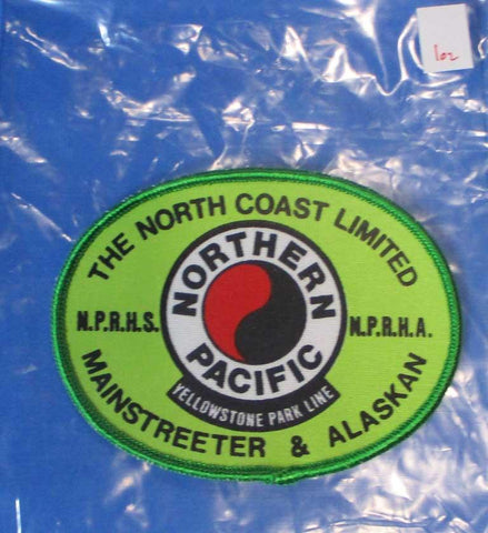 "10"" Pressed Board North Railway Coast Limited Yellowstone Park Shoulder Patch N/A OEM"