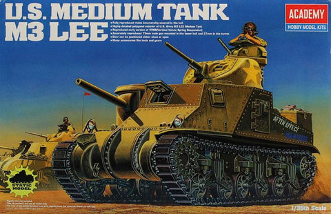 Academy 1:35 US Medium Tank M3 Lee Model Kit #13206X N/A Academy