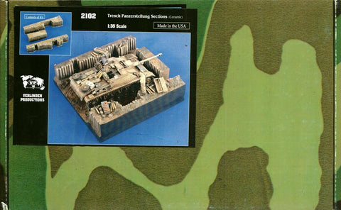Verlinden 1:35 Trench Panzerstellung Sections Ceramic Diorama Accessory #2102 N/A Verlinden