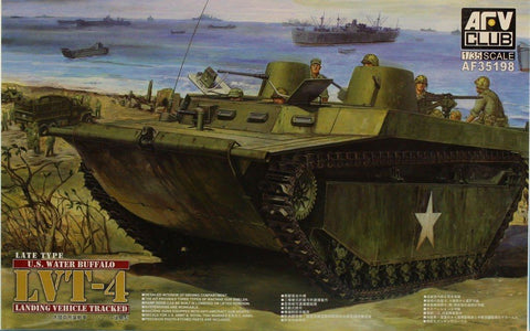 AFV Club 1:35 Late Type Water Buffalo Landing Vehicle Tracked LVT-4 Kit #AF35198 N/A AFV_Club