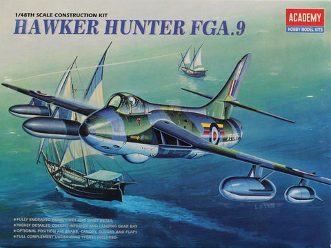Academy 1:48 Hawker Hunter FGA.9 Plastic Aircraft Model Kit #2169 N/A AFV_Club