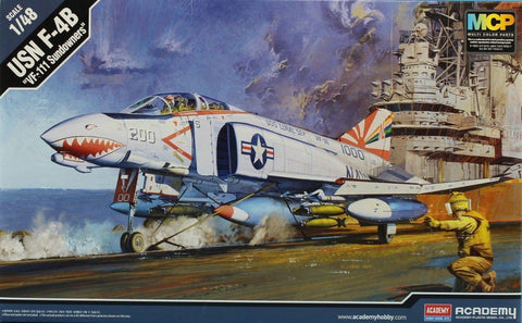 Academy 1:48 F-4 B VF-111 Sundowners Plastic Aircraft Model Kit #12232 N/A AFV_Club