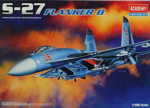Academy 1:48 S-27 Su-27 Flanker B Plastic Aircraft Model Kit #12270 N/A AFV_Club