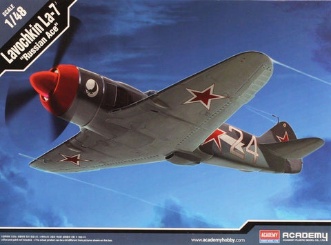 "Academy 1:48 Lavochkin La-7 ""Russian Ace"" Plastic Aircraft Model Kit #12304 N/A AFV_Club"