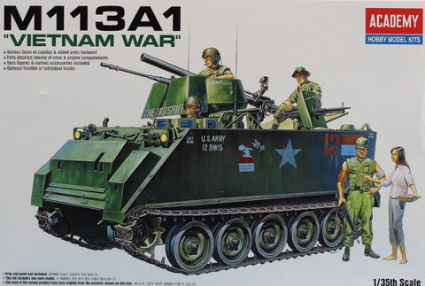"Academy 1:35 M113A1 ""Vietnam War"" w/ 106mm w/ Flamethrower Plastic Kit #13266U N/A AFV_Club"