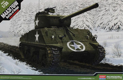 Academy 1:35 M4A3(76)W Battle of the Bulge Plastic Hobby Model Kit #13500 N/A AFV_Club
