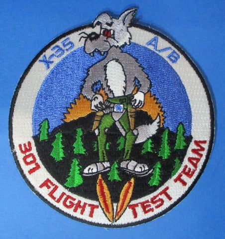 "X-35 A/B 301 Flight Test Team 3 7/8"" x 4"" Shoulder Patch N/A OEM"