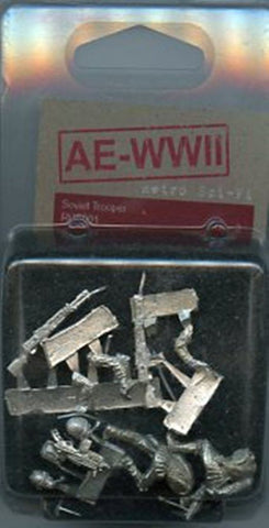 AE-WWII 28mm Soviet Troopers 2 White Metal Figures Kit #RUS001 N/A AE-WWII