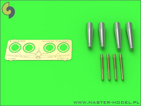 Master 1:48 Hawker Typhoon Mk IB Early Uncovered Cannon Barrels 4pc #AM48082 N/A Master Model