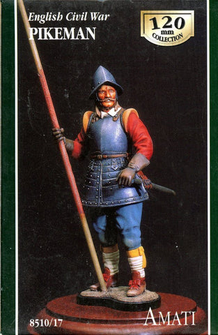 AMATI 120mm Englishi Civil War Pikeman Resin Figure Kit #8510/17 N/A AMATI
