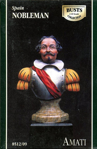 AMATI 1:10 Spain Nobleman Resin Bust Kit #8512/09 N/A AMATI