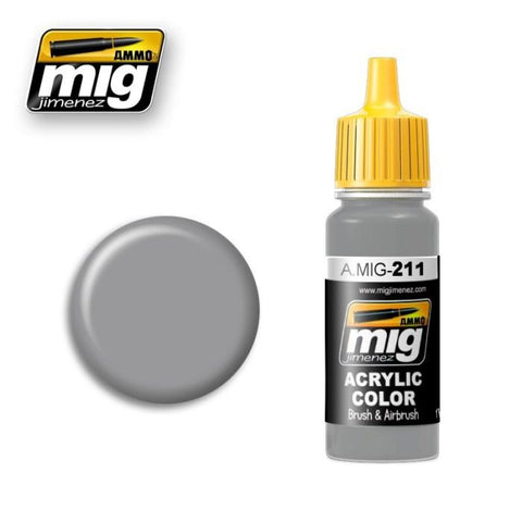 Federal Standard 36270 is a color used by USAF on all F-16s and A-10 Hill 1 scheme. This is a medium grey color useful for many other subjects such as sci-fi, mechas, or ships. Authentic color formulated for maximum brush & airbrush performance with the Scale