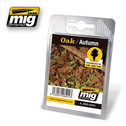 Autumn oak leaves made of printed paper cut by laser, super realistic and in high detail. Perfect to add a final touch of realism to your diorama, vehicles or figures. Easy to paste with a Little bit of White glue. Theirs size makes them optimum to scales 1:48, 1:35 or 1:32.