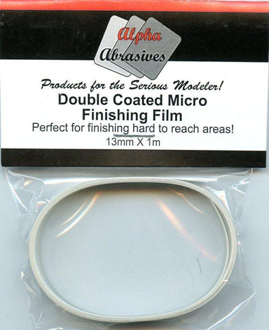 Alpha Abrasives Double Coated Micro Finishing Film 13mm x 1m #0601 N/A Alpha Abrasives