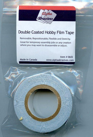Alpha Abrasives Double Coated Hobby Film Tape #0602 N/A Alpha Abrasives