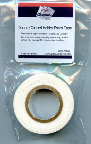 Alpha Abrasives Double Coated Hobby Foam Tape #0603 N/A Alpha Abrasives