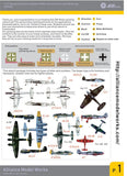 Alliance Model Works 1:72 German Aircraft WWII Markings Spraying Stencils #AW002 N/A Alliance Model Works