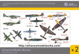 Alliance Model Works 1:32 WWII German Aircraft Markings Stencils Mask #AW014