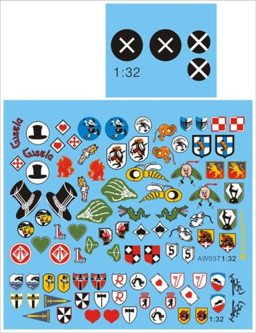 Alliance Model Works 1:32 Bf109 Unit Badges Decal Set #AW037 N/A Alliance Model Works