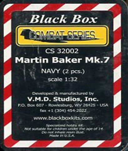 Black Box 1:32 Martin Baker Mk.7 Navy 2 Pcs Resin Detail Set #CS32002 N/A Black Box