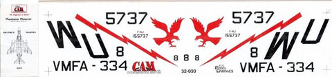 CAM 1:32 McDonnell Douglas F-4B/C/J/N & S Decal Sheet #32-030 N/A CAM Decals