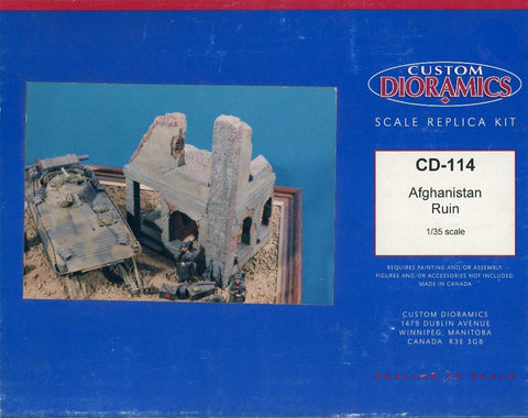 Custom Dioramics 1:35 Afghan Afghanistan Ruin Ceramic Diorama Kit #CD-114U N/A Custom Dioramics