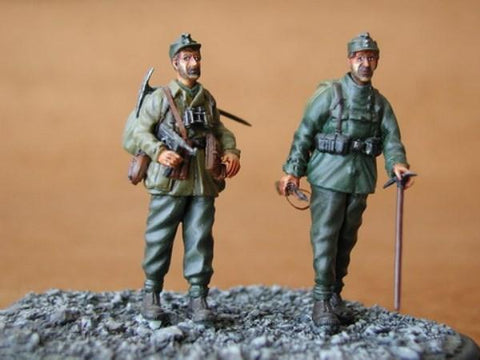 CMK 1:35 German Mountain Troops Gebirgsjager 2 Resin Figures Kit #F35035 N/A CMK