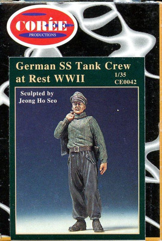 Coree Productions 1:35 German WWII SS Tank Crew at Rest Resin Figure Kit #CE0042 N/A Coree Productions