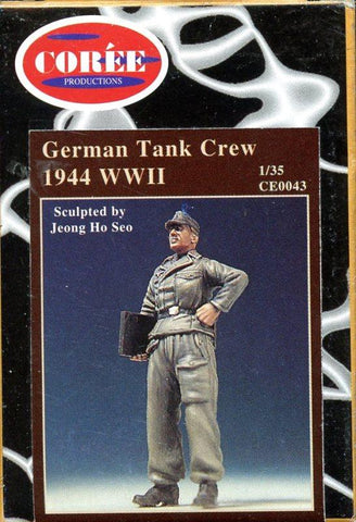 Coree Productions 1:35 German WWII Tank Crew 1944 Resin Figure Kit #CE0043 N/A Coree Productions