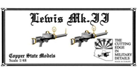 Copper State Models 1:48 Lewis Mk.2 MG Resin Detail Set #A48-145 N/A Copper State Models