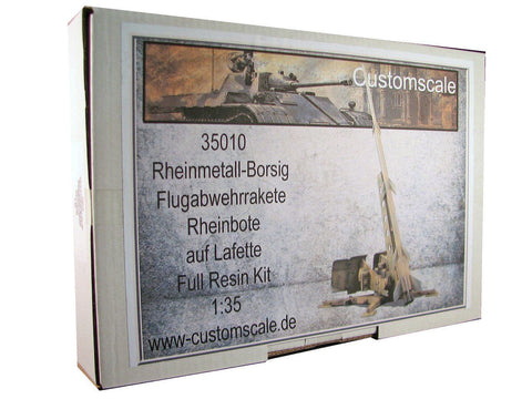 CustomScale 1:35 Flugabwehrrakete Rheinbote with Launcher Resin Kit #35010 N/A CustomScale