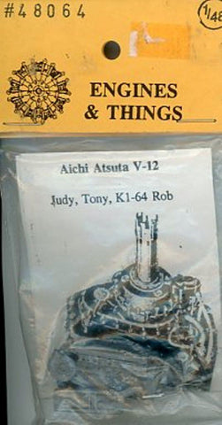 Engines & Things 1:48 Aichi Atsuta V-12 Judy Tony Ki-64 Rod Resin Detail #48064 N/A Engines & Things