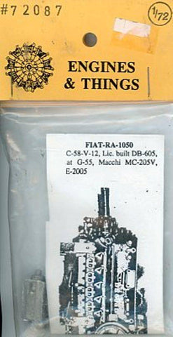 Engines & Things 1:72 FIAT-RA-1050 C-58-V-12 Lic. built DB-605 Resin #72087 N/A Engines & Things