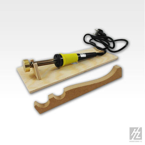 Electrical tool for bending slats, needed during the construction of wooden models such as HMS Victory, Sansima Trinida and many others. Bender for slats can also be applied in the construction of aircraft dioramas, etc.