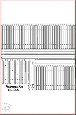 Reality In Scale 1:35 54mm Wooden Fence 20cm - Diorama Accessory #GL090 N/A Reality In Scale