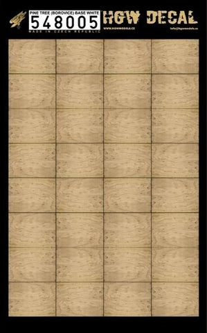 HGW 1:48 Base White Faded Pine Tree Wood Grain Decal Sheet #548005 N/A HGW Models