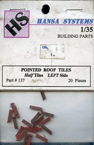 Hansa Systems 1:35 Round Roof Tiles Half Tiles Left Side 20 Pcs Diorama #137 N/A HS-Hansa Systems