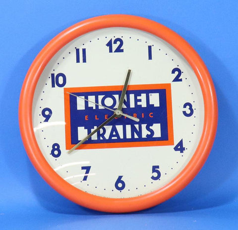 Lionel Electric Trains Wall Clock - Orange Rim #LLO01U