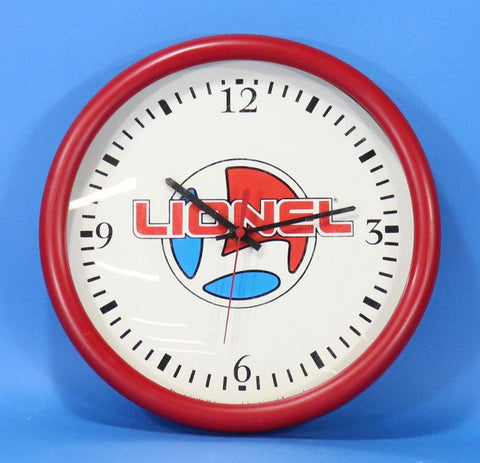 Lionel Electric Trains Wall Clock - Red Rim #LLO02U