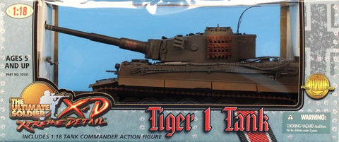 21st Century Toys Ultimate Soldier 1:18 Tiger 1 Tank Built Model #10131U N/A 21st_Century_Toys