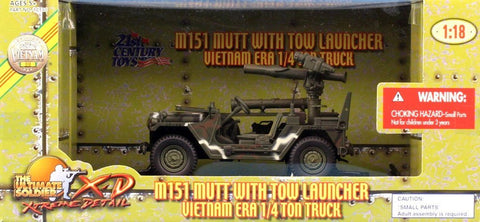 21st Century Ultimate 1:18 M151 Mutt Tow Launcher 1/4 Ton Truck Built #10130U N/A 21st_Century_Toys