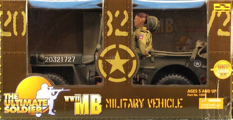 "21st Century Toys Ultimate Soldier 1:6 12"" US WWII MB Military Vehicle Built U N/A 21st_Century_Toys"