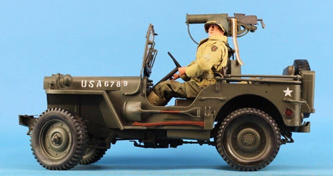 "Dragon 1:6 12"" US Army WWII MB Jeep W/ Figure Built Model U N/A Dragon"