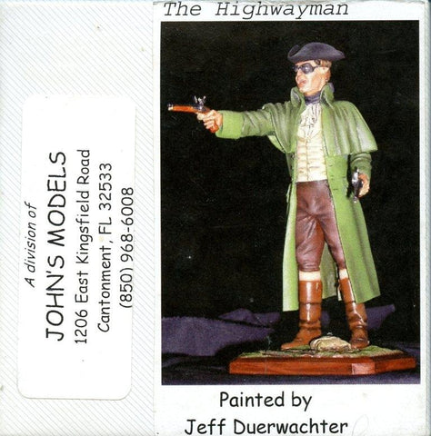 John's Models 120mm 1:16 the Highwayman Resin Figure Kit #1 N/A John's Models