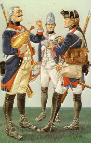 Hessian Regiments In The American Revolution 1776-83 Post Card #10771-D N/A Hessian